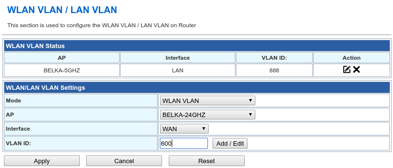 SSID to VLAN